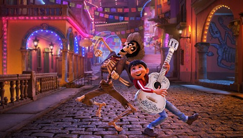 Hector and Miguel get into the spirit in Coco.