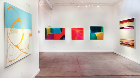 Moderna at SLATE contemporary features works by Maya Kabat, Lola, and Maura Segal. - PHOTO COURTESY OF SLATE CONTEMPORARY
