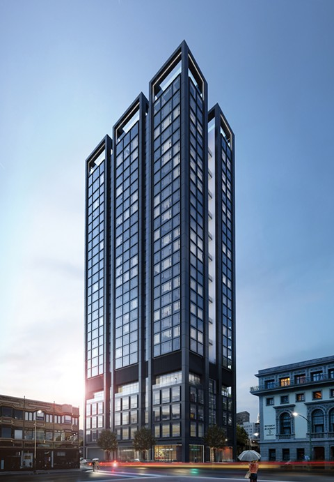 Developer RAD Urban is planning to build a housing tower at 1433 Webster St. - COURTESY OF RAD URBAN