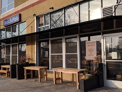 Bird & Buffalo added an awning for outdoor dining. - PHOTO COURTESY OF ANDREW C. VIA YELP