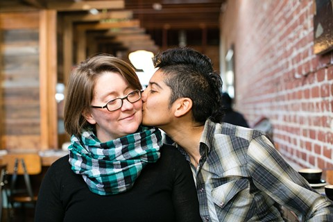 Preeti Mistry (right) with her wife and restaurant co-owner, Ann Nadeau. - BERT JOHNSON/FILE PHOTO