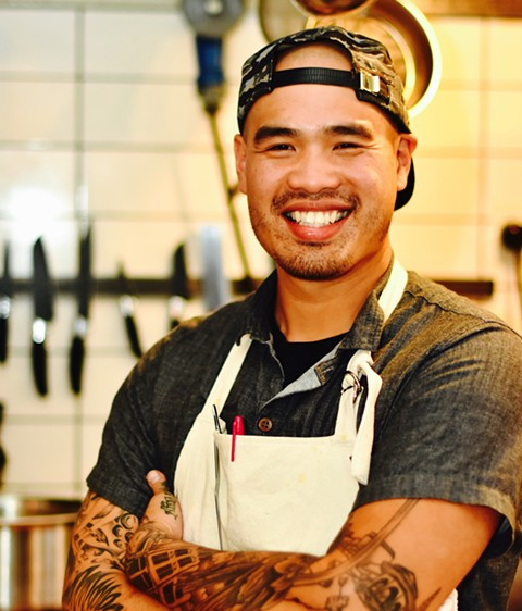 Chef Tu David Phu, ready to roll. - PHOTO COURTESY OF FORIAN PHOTOGRAPHY
