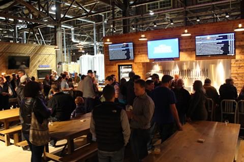 Almanac Beer Co.'s new brewery and taproom in Alameda. - JANELLE BITKER