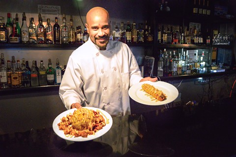 Chef-owner Eric Rivera makes prime bar food at W.E.P.A! - PHOTO BY BRIAN BRENEMAN