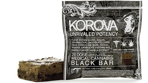 Korova's Black Bar contained 1,000 mg of THC. Under new laws, it's now illegal. - PHOTO COURTESY OF KOROVA