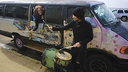 Volly and Jamey Blaze live and perform in their van. - PHOTO COURTESY OF VANTANA ROW