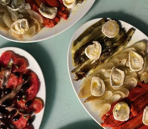 Escalivada, a traditional Catalan dish, from one of Sobremesa's cooking classes in Barcelona. - PHOTO COURTESY OF SOBREMESA