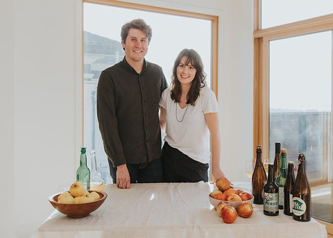 Mike Reis (left) and Olivia Maki hope to open their cider bar by the end of the year. - PHOTO COURTESY OF BRENTON GIESER