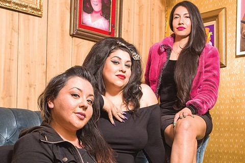 "The women of Somewhere Else (from left to right): Brandy Esparza, Leanne ""Elrod"" Rodriguez, and Mayra Ramirez ""Hellabreezy."" - PHOTO BY RICHARD LOMIBAO"