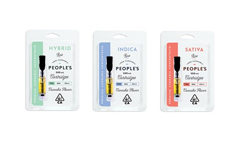 The cartridges are 100 percent cannabis and will be valued around $20. - PHOTO COURTESY OF PEOPLE'S CANNABIS