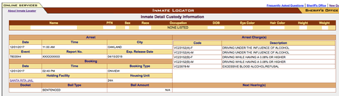 A screenshot of an inmate's record [redacted] showing their expected release date.