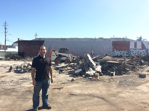 Brahm Ahmadi at the site of Community Foods Market. - MOMO CHANG