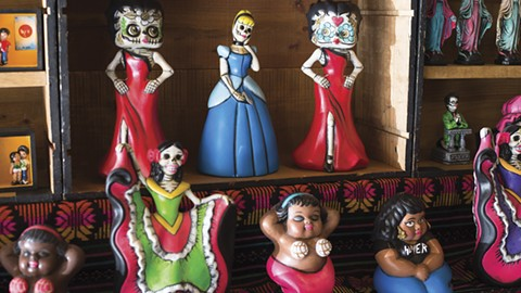 Figurines get jazzed up with Mexican touches, like conchas for coconuts. - PHOTO BY RICHARD LOMIBAO