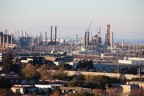 The Chevron refinery.