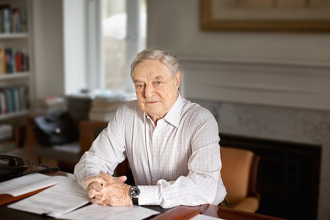 Hedge fund billionaire and political activist George Soros.