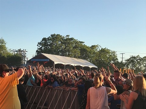 View from the Midway stage while E-40 was performing. - AZUCENA RASILLA