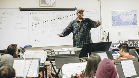 David Byrd's teaching style is laid-back and friendly. - PHOTO BY KALA MINKO