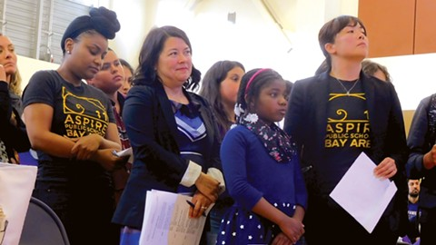 Kimi Kean, second from left, is the Bay Area superintendent of Aspire Public Schools. - PHOTO BY DARWIN BONDGRAHAM