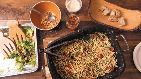 Pasta makes it easy to feed a crowd. - LANCE YAMAMOTO