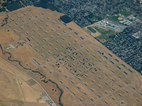 An aerial view of the former Concord Naval Weapons Station in 2006. - PHOTO BY DANIEL SCHWEN, FROM WIKIMEDIA COMMONS