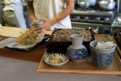 Soba Ichi specializes in handmade buckwheat noodles. - CIRRUS WOOD
