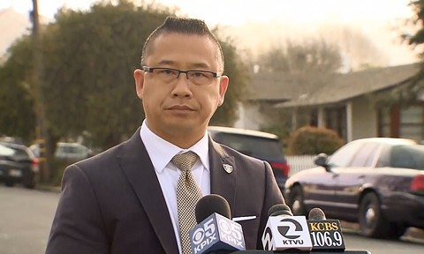 Felix Tan was the Richmond Police Department's sole spokesperson on the Jasmine Abuslin case even though he was the subject of an investigation for his involvement with her. - IMAGE COURTESY OF KPIX