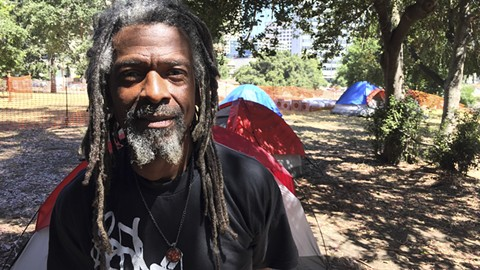 "Nino Parker organized ""green teams"" to pick up trash around homeless camps. - PHOTO BY DARWIN BONDGRAHAM"