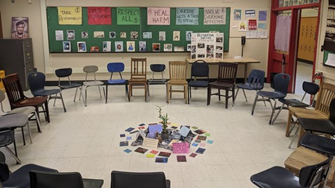 Community-building circles encourage respect and healthy relationships. - PHOTO COURTESY OF RESTORATIVE JUSTICE