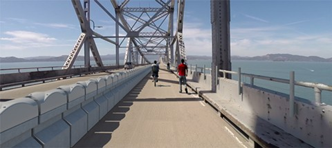 The planned Richmond-San Rafael Bridge bicycle-pedestrian path is scheduled to open in early 2019. - IMAGE COURTESY OF HNTB CORP.