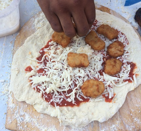 One person used chicken nuggets as a pizza topping. - PHOTO COURTESY OF MOMO CHANG