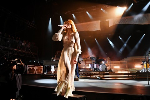 Florence Welsch glowed as she danced around in a sheer white gown. - COURTESY OF OUTSIDE LANDS BY FILMMAGIC.COM