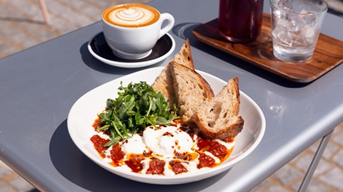 The spicy shakshuka is worthy of a fan club. - PHOTO BY LANCE YAMAMOTO