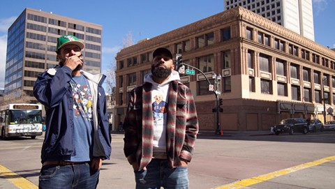Alex Jenney (aka Pass) and Jordan Jennings (aka Apes) of ANML PLNT. - PHOTO BY BACKWOOD ONEDR