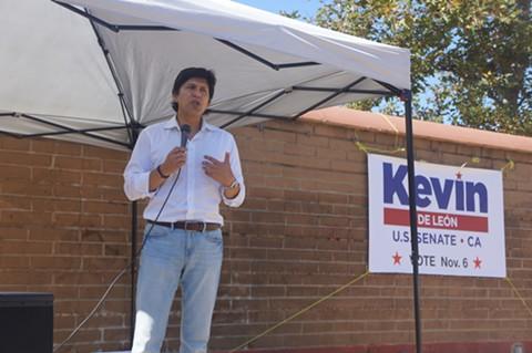 Democratic candidate for U.S Senate, Kevin De León. - PHOTO BY AZUCENA RASILLA