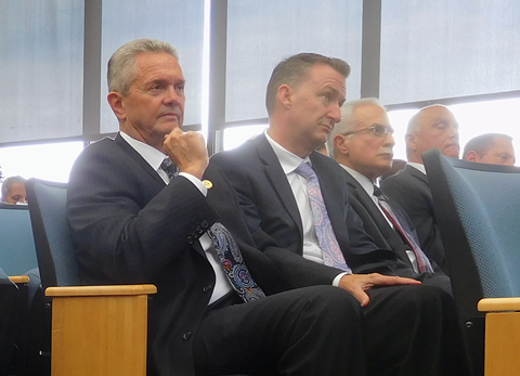 Alameda County Sheriff Gregory Ahern listens during the Truth Act forum.