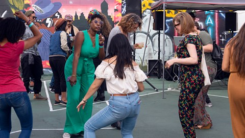 Makossa Cookout recently brought DJs and dancing to 7th West. - PHOTO BY LANCE YAMAMOTO