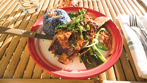 "Saengsawang says the Panang short rib really tells ""my own story."" - PHOTO BY LANCE YAMAMOTO"