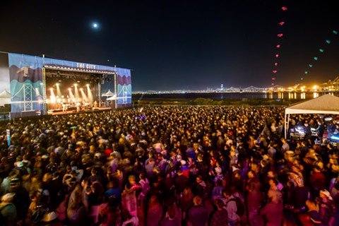 The music festival's new location boasted a glittering view of the San Francisco skyline. - JOSH WITHERS