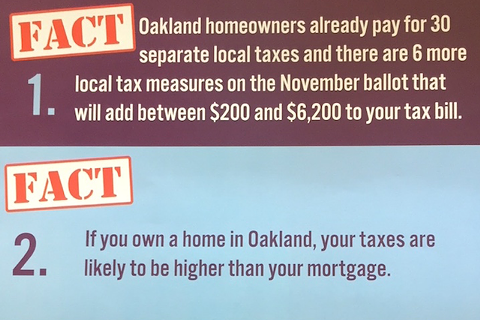 "An excerpt from one of the ACTA mailers states ""there are 6 more local tax measures on the November ballot."""