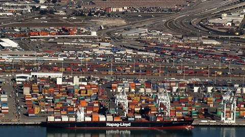 Tagami's coal terminal would be next to the Port of Oakland. - WIKIMEDIA COMMONS