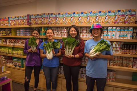 Members of the Friday restock team at the UC Berkeley Food Pantry. - PHOTO COURTESY OF GRETCHEN KELL