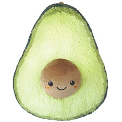 The Squishable Avocado is ready to cuddle.