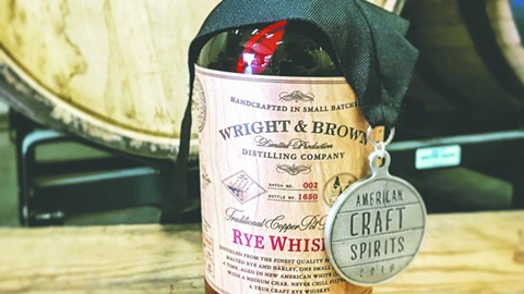 PHOTO COURTESY OF WRIGHT & BROWN DISTILLING COMPANY