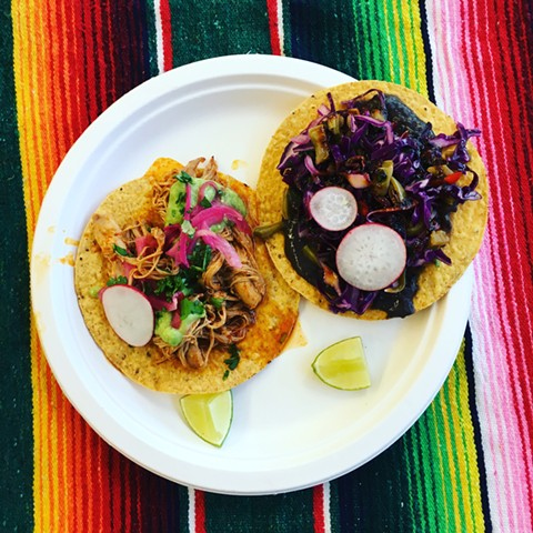Every taco comes on handmade tortillas. - PHOTOS COURTESY OF OSCAR MICHEL