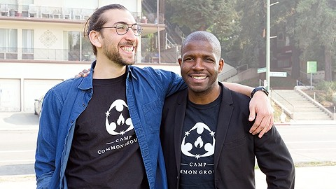 Zach Bell, left, and Ron Towns started Camp Common Ground to disrupt racial, ethnic, and socioeconomic segregation. - PHOTO BY LANCE YAMAMOTO