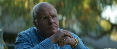 Christian Bale lies in wait as Dick Cheney, in Vice.
