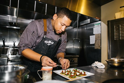 Chef Nelson German of alaMar. - PHOTO BY MELATI CITRAWIREJA