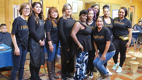 Haircuts with Heart started two years ago and has provided more than 1,000 free haircuts to Oakland's homeless, veterans, women, and children. - PHOTO BY STEPHEN TEXEIRA