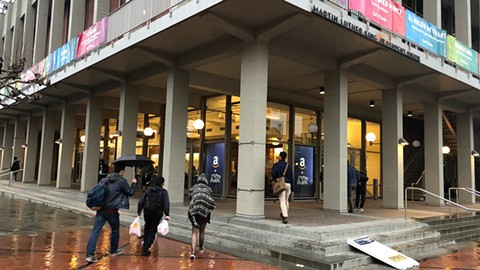 Amazon has operated a location on the Cal campus since January 2016. - PHOTO BY JASON PALADINO