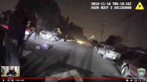 Footage from the video capturing the killing of Agustin Gonsalez.